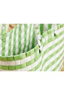 English Home Hand Bag Çanta 28.5 X 14.5 X 22 Beyaz - Yeşil