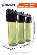 Hanedan Smart 10 Inc Çift Sediment Karbon Filtreli Kireç Ve Tortu Önleyici 3lü Daire Girişi Su Arıtma Cihazı
