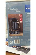 KORKMAZ Kahvekolik Deluxe Otomatik Kahve Makinesi Siyah/rose A860-09