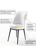 Canisa Concept Via Serisi Açılabilir Mutfak Masa Takımı- Siyah Mermer Desen Masa+6 Füme Sandalye