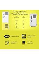 PİAHA Led Mini Taşınabilir Projeksiyon Cihazı Ev Sineması Hdmı+usb