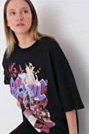 Addax Baskılı T-shirt P9604 - H9