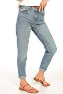 Stay Denim Yüksek Bel Mom Fit Jeans