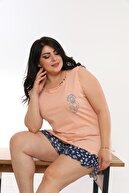 Vienetta Kadın Pudra Baskılı Pijama Takımı