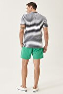 Altınyıldız Classics Erkek Yeşil Standart Fit Casual Mayo Deniz Şortu