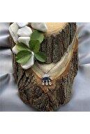 Beyazıttakı Kadın 925 Ayar Rodium Kaplama Yağmur Damlası Gümüş Kolye