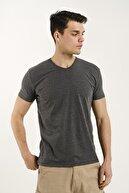 Oksit Riley V Yaka Slim Fit Basic Erkek Tshirt