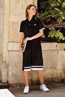 Sementa Kadın Polo Yaka Pike Elbise - Siyah