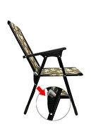 moniev Katlanır Kamp Piknik Sandalyesi Plaj Koltuğu Katlanır Şezlong Ve Oval Bardaklık Kamuflaj