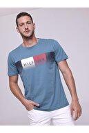 Tommy Hilfiger Fade Tee Bialy Regular Fit Men Erkek T-shirt