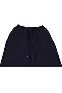 eklesepete Kadın Lacivert Palazzo Tiril Kumaş Beli Lastikli Geniş Paça Yazlık Pantolon