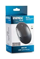 Everest Sm-385 Siyah Usb Kablolu Optik 800 Dpı 3 Buton Mouse