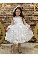 Pumpido Puantiyeli Tüllü Elbise.doğum Günü Elbisesi