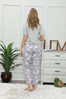 modalove Kadın Desenli Mevsimlik Tek Pijama Altı