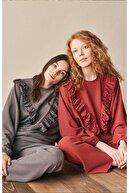 Feyza Pijama Feyza Göğüs Kısmı Özel Tasarım Bayan Eşofman Takımı 3941 Kiremit