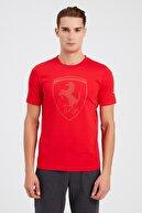 Puma FERRARI STYLE BIG SHIELDT Kırmızı Erkek T-Shirt 100662705