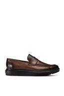 Deery Erkek Kahverengi Hakiki Deri Loafer Ayakkabı
