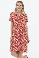 Sementa Kadın  Çiçek Desenli Rahat Kalıp Elbise