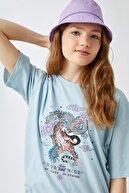Koton Kadın Mavi T-Shirt 1YAL18125UK