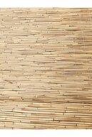 metrohasır Doğal Kamış Hasır Çit  Doğal Bambu Misine Iplik Makine Örgüsü 80cm X 4.5m