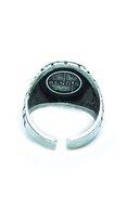 Loyal Çukur Gümüş Kaplama Erkek Yamaç Yüzüğü