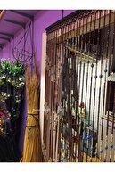 Patavat Kapı Süsü Kapı Boncuğu Ahşap 27 Sarkıt - 90 Cm Kahve-Krem-Gri Karışık Renk