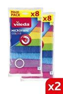 Vileda 8'Li Colors Mikrofiber Bez 2'Li Paket