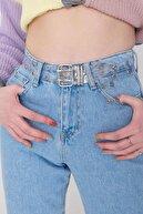 Addax Kadın Şeffaf Kuşgözü Detaylı Kemer K411 - Dk5 Adx-0000023776