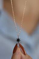 By Barun Silver Siyah Taşlı Kutup Yıldızı Gümüş Kolye