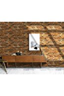 Renkli Duvarlar Nw47 Koyu 3d Taş Kendinden Yapışkanlı 3d Dekoratif Duvar Paneli