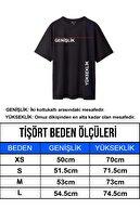 By Okat Kolu Katlı Oversize Grape Nakışlı T-shirt