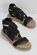 Bambi Siyah Kadın Sandalet K05682020215