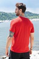 Sateen Men Erkek Kırmızı Yazı Baskılı T-Shirt