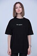 Black Sokak Kadın Siyah The Moon Oversize Tshirt