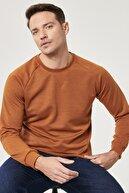 Altınyıldız Classics Erkek KARAMEL Standart Fit Günlük Rahat Bisiklet Yaka Spor Sweatshirt