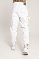 Catch Paçası Lastikli Bol Kalıp Beyaz Jean 3891-g44