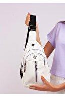 Gez çanta Kadın Beyaz Üç Gözlü Bodybag