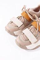 Tinka Bell Shoes 65140 Kadın Spor Ayakkabı Bej Hardal Multi