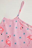 Defacto Kız Çocuk Kuğu Desenli Askılı Örme Elbise