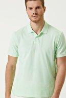 Network Erkek Comfort Fit Yeşil Polo Yaka Batik Desenli T-shirt 1078289