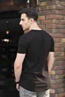 Oksit Crash Açık Yaka Slim Fit Tshirt