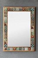 Oscar Stone Decor Masif Çerçeveli Mozaik Taş Ayna 53 Cm X 73 Cm Tile Mozaik Seramik Desenli