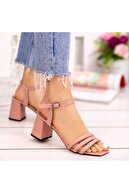 Erbilden Kadın Pudra Cilt Topuklu Ayakkabı