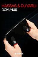 ZOİNCO E Spor Mobil Oyun Parmak Eldivenleri Süper İletken Karbon Fiber Kumaş Ter Geçirmez 1Çift 2 Parmaklık