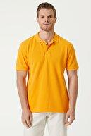 Network Erkek Slim Fit Sarı Polo Yaka T-shirt 1079747