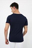 Ette Erkek Lacivert Basic Slimfit T-shirt 4250