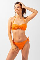 Katia & Bony Modern Marine Straplez Kadın Bikini - Oranj