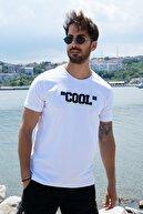 Sateen Men Erkek Beyaz Kabartma Baskılı T-Shirt