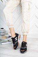 Riccon Unisex Siyah Turuncu Sneaker 0012863