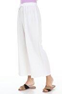 Ananas Kadın Beyaz Beli Lastikli Aerobin Pantalon